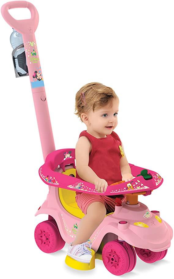 Primeiros Passos de Passeio - Andador Baby - Disney - Minnie - Bandeirante