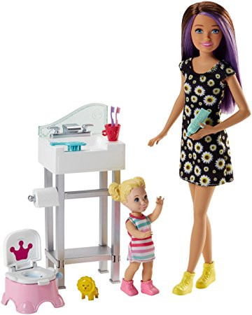 Boneca Barbie - Skipper Babysister - Banheira e Bebê - Mattel