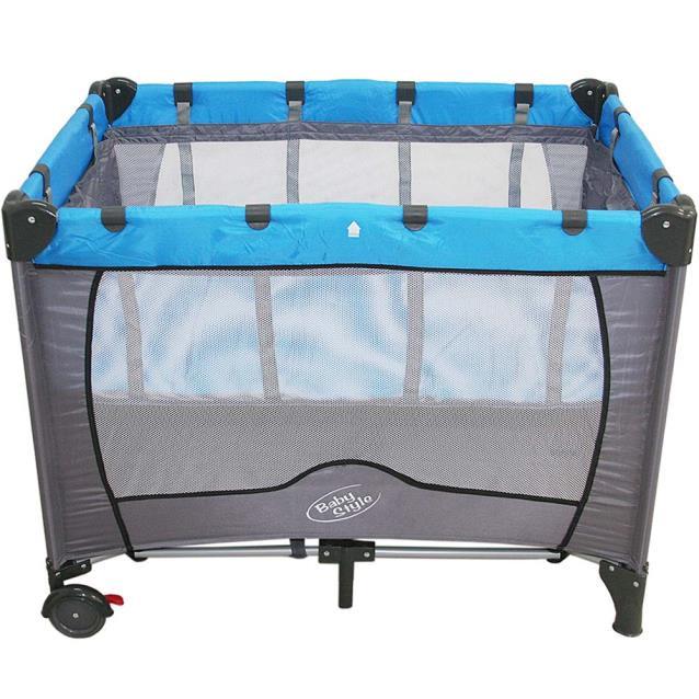 Berço Compacto Desmontável 2 Níveis de Altura Azul  - Baby Style