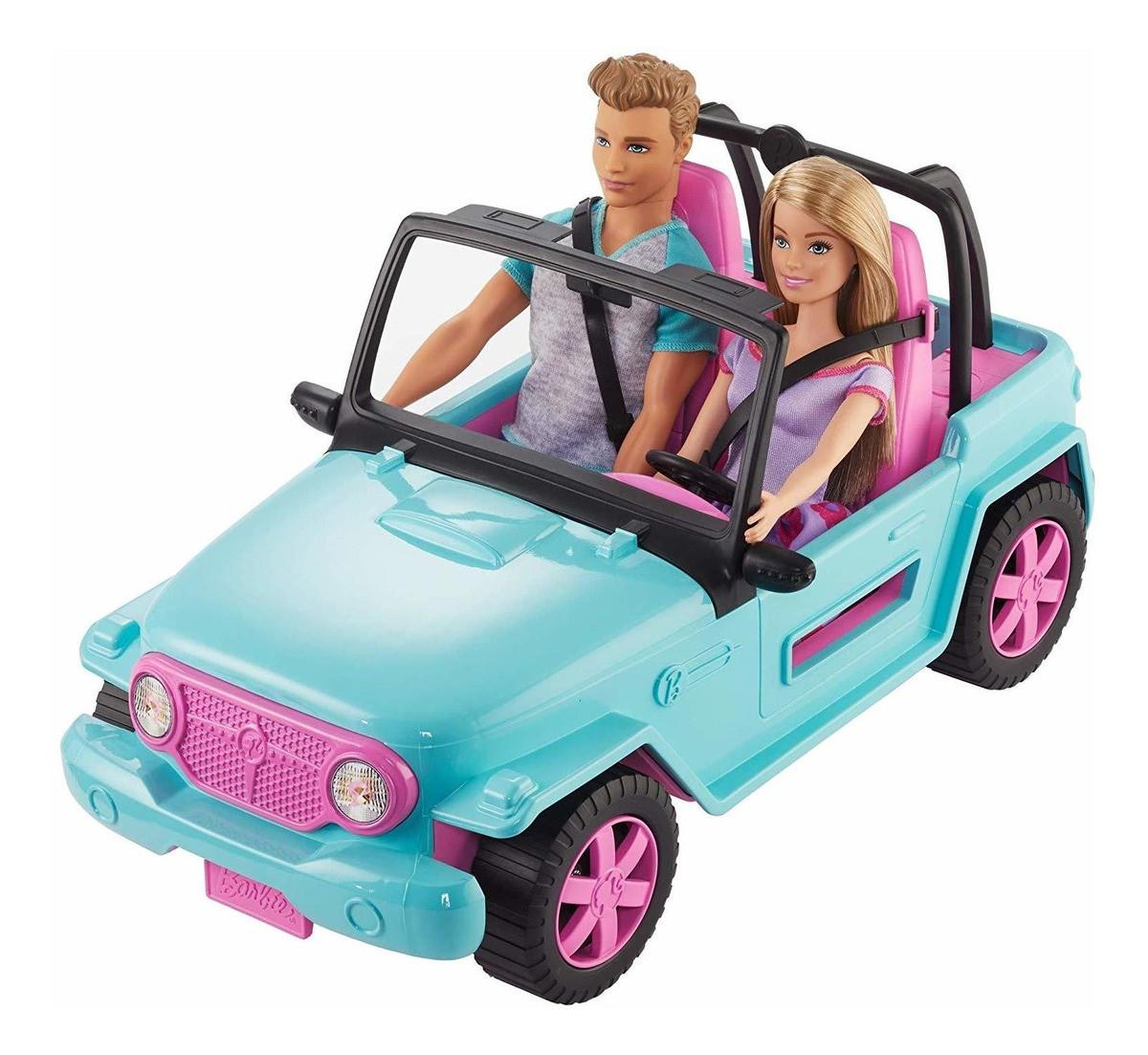 Barbie E Ken Com Veículo, Ght35, Mattel