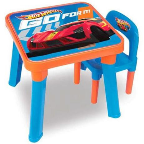 Mesinha Com Cadeira Hot Wheels Fun