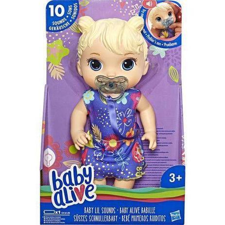 Baby alive primeiros sons loira
