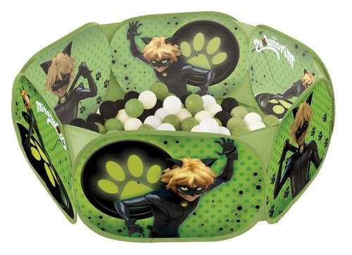 Piscina de Bolinhas Miraculous Cat Noir C/100 Bolinhas - Zippy Toys