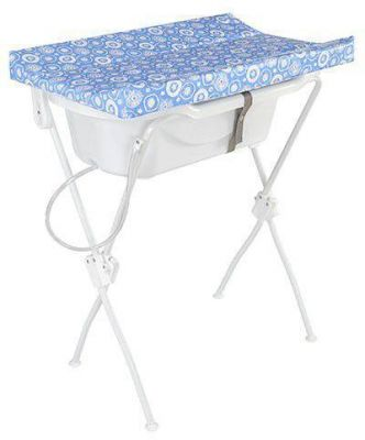 Banheira Bebê com Trocador Infantil Floripa Azul - Tutti Baby