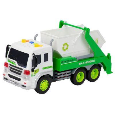 Caminhão de brinquedo infantil Coleta de lixo com Caçamba a fricção BBR