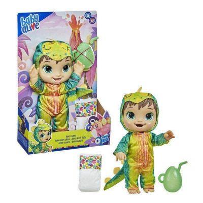 Boneca Baby Alive Dino Cuties Bebessauro Morena F0934 Hasbro F0934
