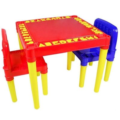 Mesa com Cadeira Didatica com Numeros e Alfabeto 3827- Tritec