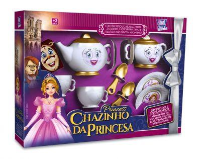 Kit Cozinha Infantil Chazinho da Princesa c/ Bule e Acessórios - 132611 - Zuca toys
