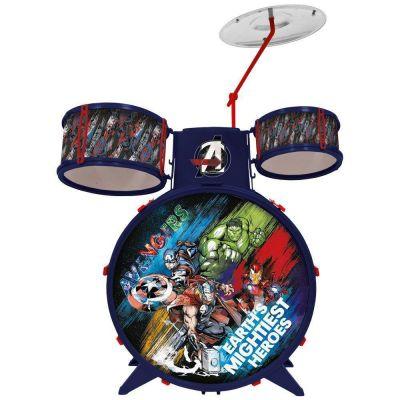 Bateria Musical Infantil Marvel Os Vingadores Toyng 34473