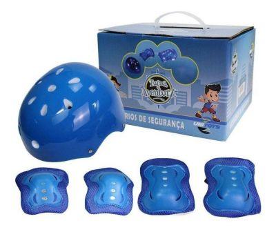 Kit Proteção Infantil azul- Acessórios De Segurança - Unitoys1560