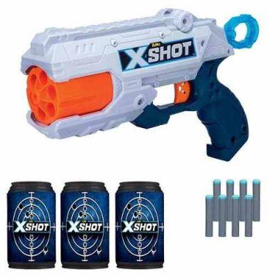 X-shot - Tk6 Com 8 Dardos E 3 Latas - Candide