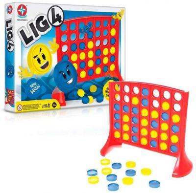 Jogo Lig 4 -Raciocínio, Estratégia - Estrela