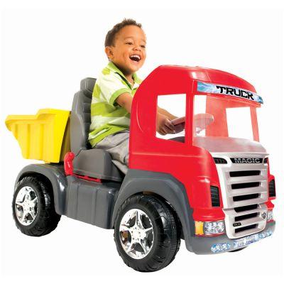Truck Vermelho Pedal Com Capacete 9300 - Magic Toys