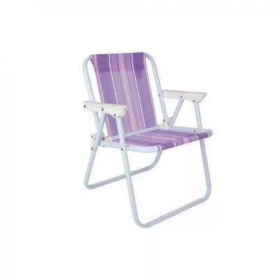Cadeira Infantil Alta Aço Lilás - MOR