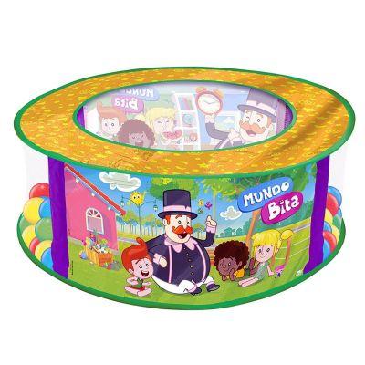 Mundo Bita Piscina De Bolinhas Bebê C/ 100 Bolinhas - Líder Brinquedos