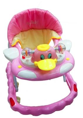 Andador Infantil Rosa Pato Altura Ajustável Luzes E Sons