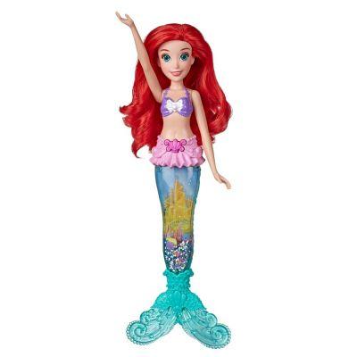 Boneca Princesas Ariel LUZ e Brilho Hasbro