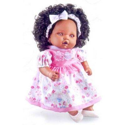 Boneca Angelina Negra 62 Frases  212 - Milk Brinquedos
