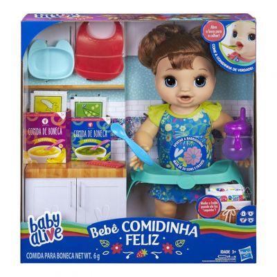 Boneca Baby Alive - Comidinha Feliz Morena - E4895  Hasbro