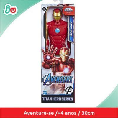 Figura Articulada - 30 Cm - Titan Heroes - Disney - Marvel - Avengers - Iron Man - Hasbro - E7873