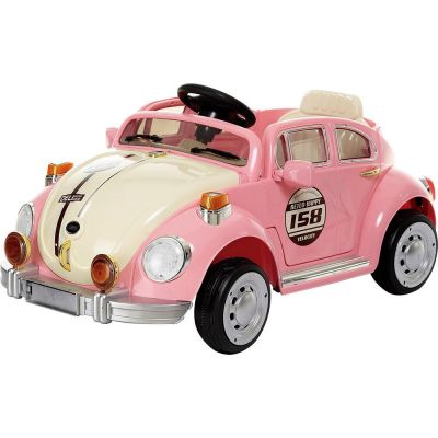 Fusca Rosa Clássico Elétrico com Controle Remoto - 914300 Bel Brink