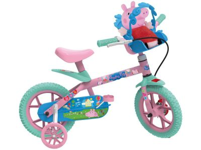 Bicicleta Infantil Aro 12 Peppa Pig 3322 Bandeirante