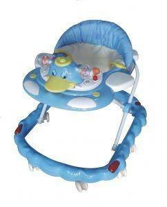 Andador Infantil azul Pato Altura Ajustável Luzes E Sons