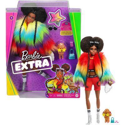 Boneca Barbie - Extra - Barbie Com Casaco Arco - Íris - Mattel