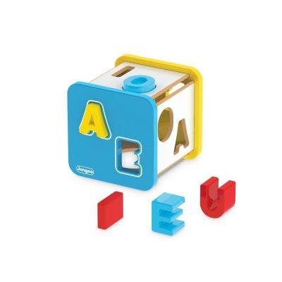 Cubo Didático Letras em Madeira Junges