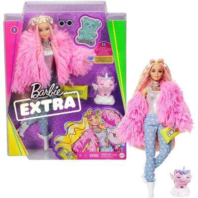 Boneca Barbie Extra - Casaco Rosa Acessórios e Pet Mattel