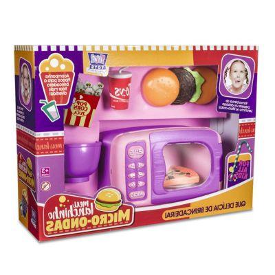 Meu Lanchinho Micro Ondas E Acessorios Infantil Zuca Toys