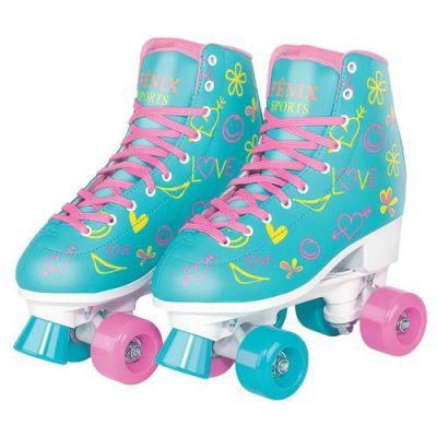 Brinquedo Infantil Patins Roller Com 04 Rodas Ajustável RL07 39 ao 42 - Fenix